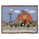 John Deere Colorful Tapestry Throw - LP38069