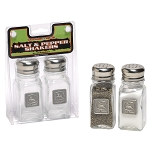 John Deere Salt and Pepper Shakers with Pewter Medallion - LP17734