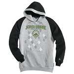 John Deere University Argyle Heavy Hooded Sweatshirt - 119712 - Special Purchase