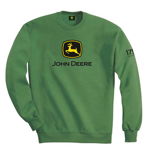 John Deere 175th Anniversary Custom Green Crewneck Sweatshirt