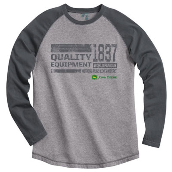 John Deere Heathered Raglan Long Sleeve T-Shirt - 154709