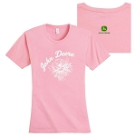 John Deere Ladies' Flower T-shirt - 154724