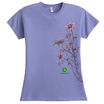 John Deere Ladies' Flower T-shirt - 154725