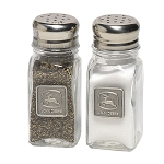 John Deere Salt and Pepper Shakers with Pewter Medallion - 89831