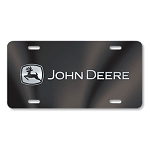 John Deere Black License Plate - JD05455