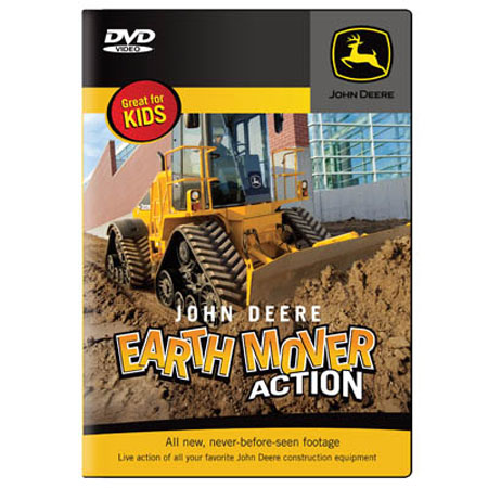 John Deere Earth Mover Action, Live Action DVD    40 minutes - TMBJDEARTH