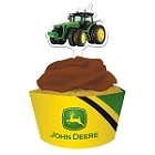 John Deere Tractor Cupcake Wrappers and Pick Set of 12 - 78162