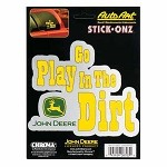 John Deere Go Play in the Dirt Stick Onz Decal Sheet - JD04153