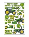 John Deere Tractor Epoxy Scrapbook Stickers