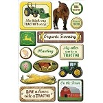 John Deere Farm Epoxy Scrapbook Stickers - CI25602