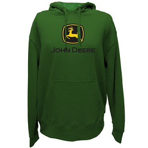 John Deere 2000 Trademark Green Heavy-Fleece Hoodie- 13020000GR