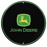 John Deere Round Metal Sign - KE10116