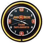 John Deere 14-1/2-inch Farm Implements Double Neon Clock - 10113