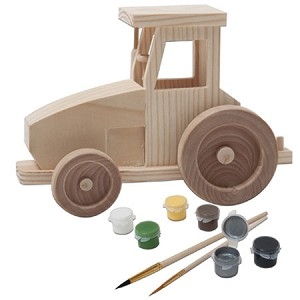 John Deere 3D Wood Toy Farm Tractor Paint Kit - LP26546