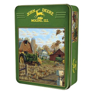 John Deere 1000-Piece Puzzle in Collectible Tin - Autumn Gold - 71235
