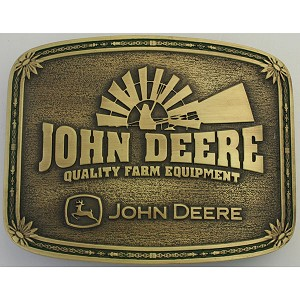 John Deere Windmill Quality Farm Equipment Montana Silversmiths Belt Buckle - LP36232