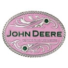 John Deere Nothing Runs Like A Deere Pink Cast Buckle - LP39876
