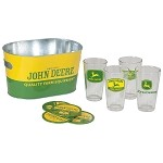 John Deere Pint Glass Gift Tin Set - LP35900