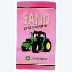 John Deere Sand Looks Good on Me Pink Beach Towel - SW61131