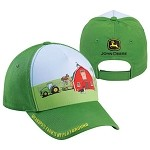 John Deere Youth Grandpa Farm Scene Cap - LP43535