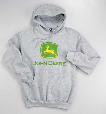 John Deere Gifts >> Sports Grey Hoodie w/John Deere Logo - JD01218