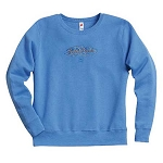 John Deere Ladies' Fleece Crewneck Sweatshirt - Carolina Blue
