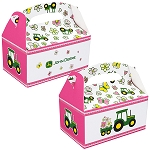 John Deere Pink Empty 4x6-inch Party Favor Boxes