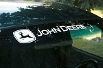 John Deere Xpressionz Windshield Decal