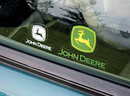 John Deere Static Cling Decal Pack
