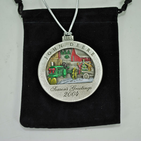 John Deere Limited Edition 2004 Pewter Christmas Ornament  9th in