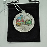 John Deere Limited Edition 2006 Pewter Christmas Ornament - 11th in Series