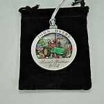 John Deere Limited Edition 2002 Pewter Christmas Ornament - 7th ornament in this unique series - PMDCO2002