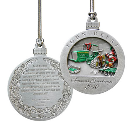 John Deere Limited Edition 2010 Pewter Christmas Ornament  15th