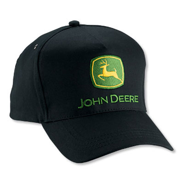 John Deere Black Cap : John deere value black twill cap lp