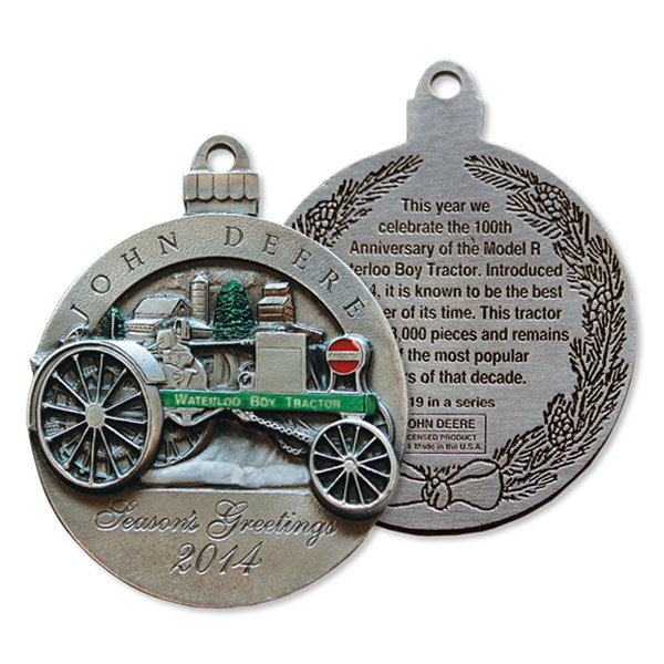 John Deere Limited Edition 2014 Pewter Christmas Ornament  19th