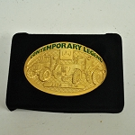 John Deere Contemporary Legends Limited Edition 2007 Gold Belt Buckle 6430 and 7930 Tractors - JP2007G