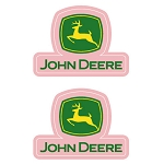 John Deere Pink Logo Decal Sticker Set - 000379