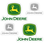 John Deere Static Cling Decal Sticker Set - 003503