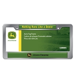 John Deere Chrome License Plate Frame - 006418