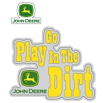 John Deere Go Play in the Dirt Decal Sheet - 008703