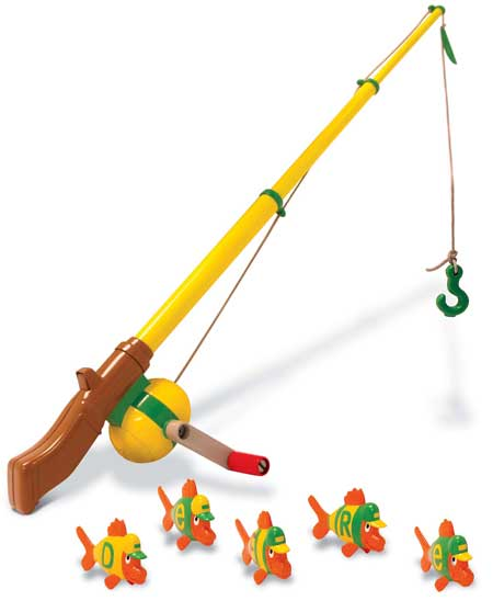 john deere toy electronic fishing pole with fish ertl 35073
