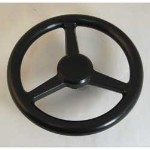 Three Spoked Plastic Steering Wheel - TBE10030
