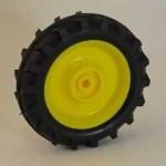 Left Hand Front Wheel with Tire for Die-cast Pedal Tractor