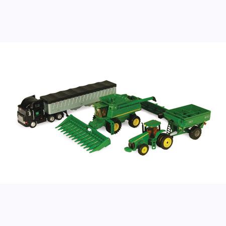 John Deere Toy 1 64 Harvesting Set Ertl 45150