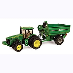 John Deere 1:64 8320R Tractor with Grain Cart - 45236