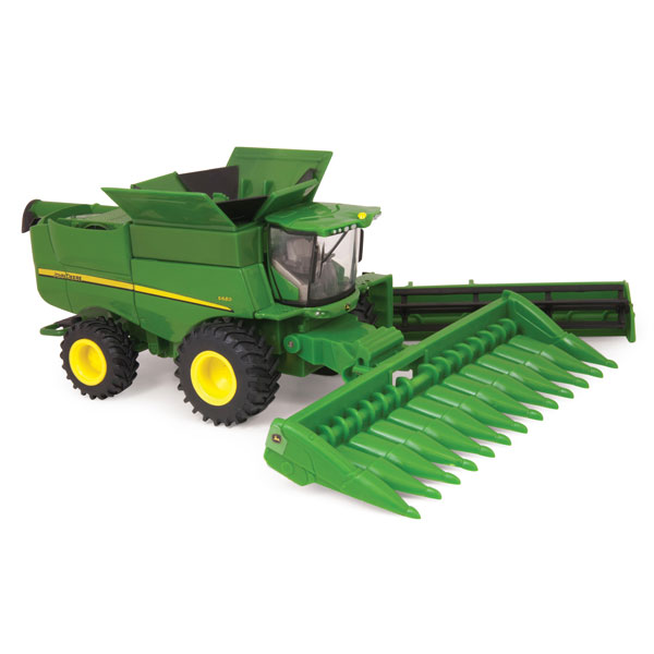 John Deere 1 64 Scale S680 Toy Combine With Heads Tbe45380