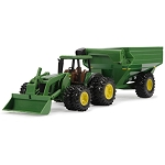 John Deere 8-inch Tractor with Grain Cart Set - TBE46227
