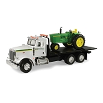 John Deere Big Farm Straight Truck with 4020 Tractor and Lights N Sound - TBEK46212