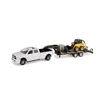 John Deere 1:16 scale Big Farm Truck with Trailer and Skid Steer - LP55403