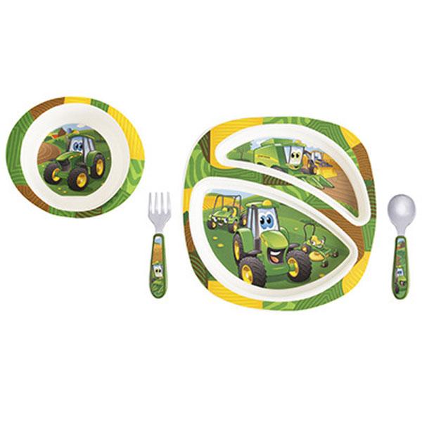 sc 1 st  GreenFunStore & John Deere Childrens 4-piece Dinner Set - LP64811